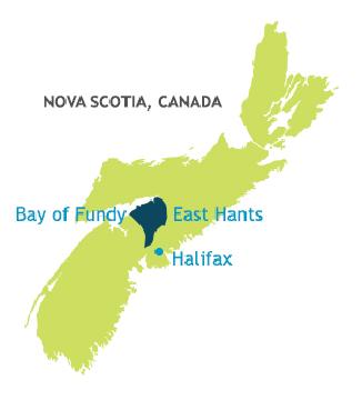 East Hants Map