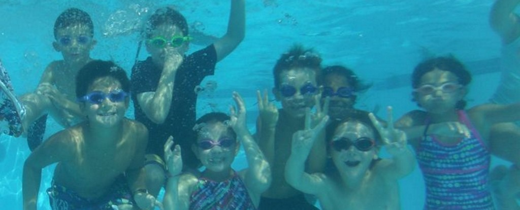 day camp activity swim crafts kids pool